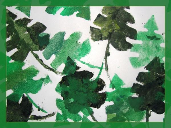 Leaf Printing - Walkington Primary School